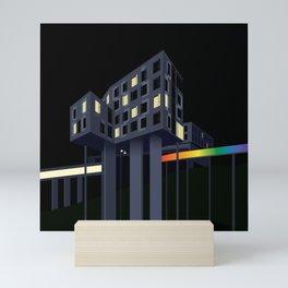 Carnegie Mellon's Gates Hillman Computer Science Center Mini Art Print