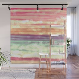 Whimsical Pastel Bokeh Stripes Wall Mural