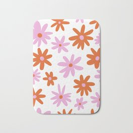 Bright Floral Bath Mat