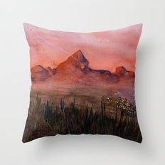 Fictional Landscape I Throw Pillow