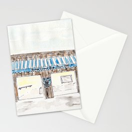 Britt's Donut Shop, Carolina Beach, NC, watercolor Stationery Cards