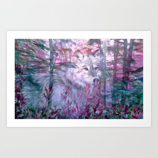 Forest Ghost Art Print