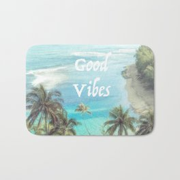 Good Vibes Beachy Palms Bath Mat