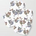 Cats love pattern by cristinailustra