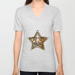 Deputy US Marshal Star Unisex V-Neck