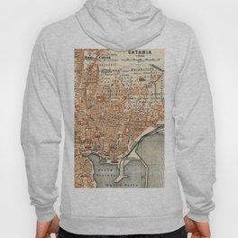 Vintage Map of Catania Italy (1905) Hoody