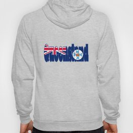 Queensland Font with Queenslander Flag Hoody