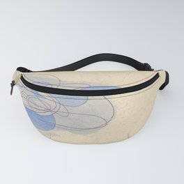Blue Puff Fanny Pack