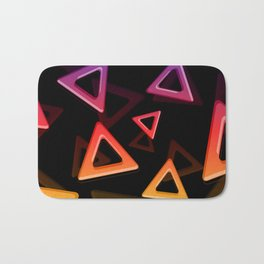 80's Triangles Bath Mat