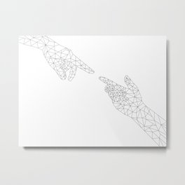 Michelangelo Reloaded (in white) Metal Print