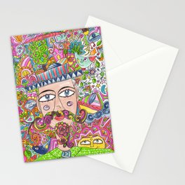 Man and his hat Stationery Cards