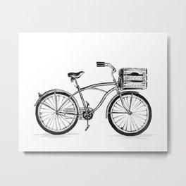 Beach Bicycle Metal Print