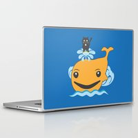 surfing Laptop & iPad Skins featuring Surfing by Hagu