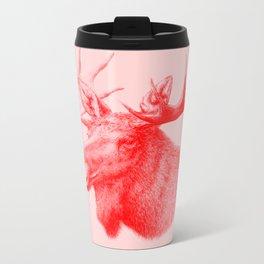 Moose red Metal Travel Mug