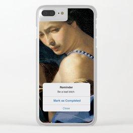 Be a Bad B*tch Clear iPhone Case