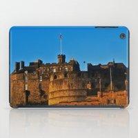 edinburgh iPad Cases featuring Edinburgh Castle by merialayne