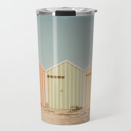 Summer Beach Huts Travel Mug