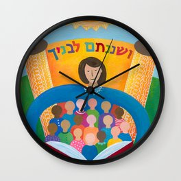 Teach Them Diligently Wall Clock