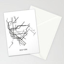 New York Subway Map Print New York Metro Map Poster,Subway Map Print,Metro Map Poster Stationery Cards