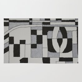 Silver Map Rug