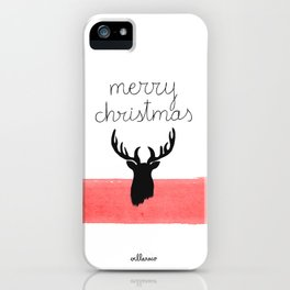 Christmas time - Deer edition iPhone Case