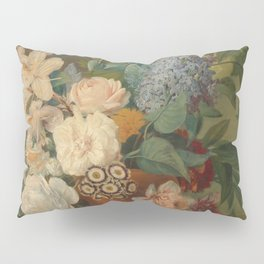 Flowers in a Terra Cotta Vase, Albertus Jonas Brandt and Eelke Jelles Eelkema Pillow Sham