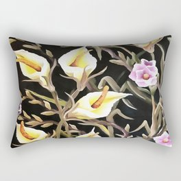 Arum Lily Artistic Floral Design Rectangular Pillow