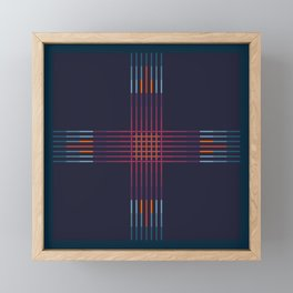 Multicolor Cross Framed Mini Art Print