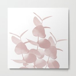 Eucalyptus Leaves Blush White #1 #foliage #decor #art #society6 Metal Print
