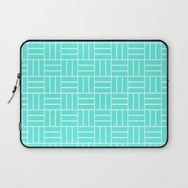 Basketweave (White & Turquoise Pattern) Laptop Sleeve