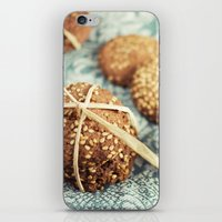 cookies iPhone & iPod Skins featuring Cookies by Leonor Saavedra