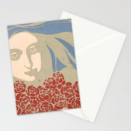 "Koloman (Kolo) Moser ""Woman's Head with Roses"" Stationery Cards"