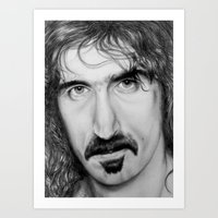 zappa Art Prints featuring ZAPPA by Rob Delves
