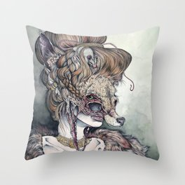 Vulpes Masquerade, now as a print! Throw Pillow