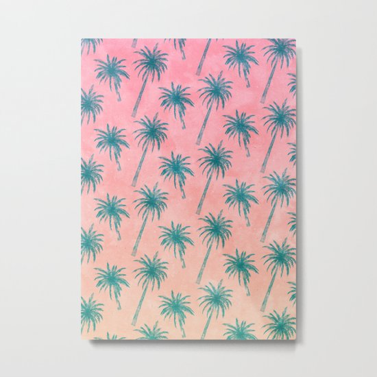 Palm Tree Pattern Metal Print