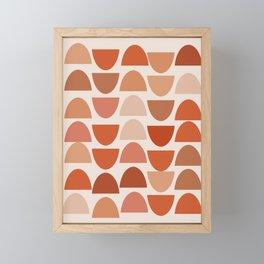 Shapes in Auburn and Terracotta 108 Framed Mini Art Print