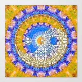 Yellow Sunshine Yin And Yang Art - Sharon Cummings Canvas Print
