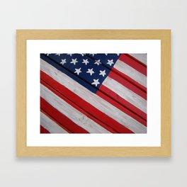 Wooden Flag Closeup Framed Art Print