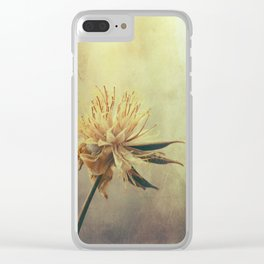 Golden Cosmos Seeds Clear iPhone Case
