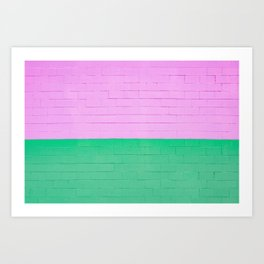 Colorful Brick Wall Art Print