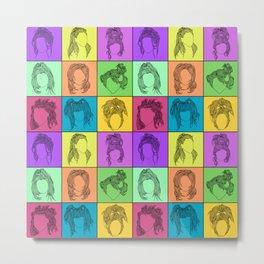 90s hairstyles Metal Print