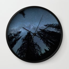 Celestial Starlight In The Forest Near Lake Irene Colorado Wall Clock