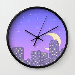 Late Nights and City Lights Wall Clock