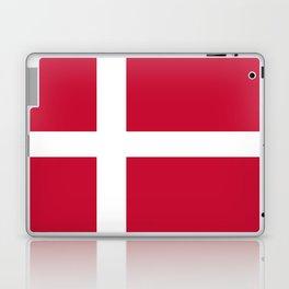 The flag of danmark Laptop & iPad Skin