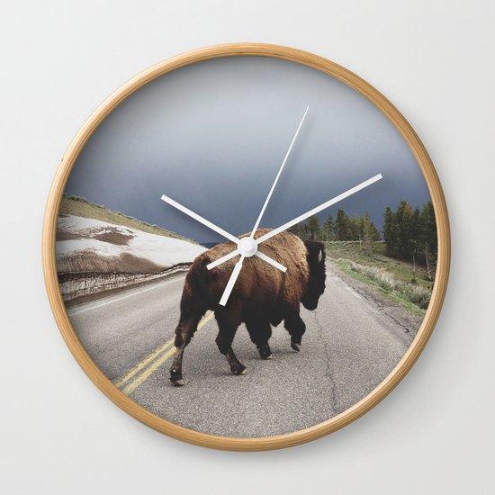 Street Walker Wall Clock
