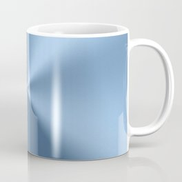 Blue metallic stainless steel pattern print Coffee Mug