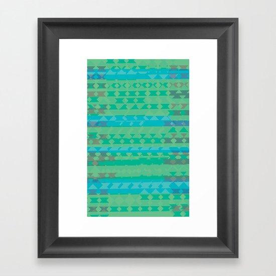 Summertime Green Framed Art Print
