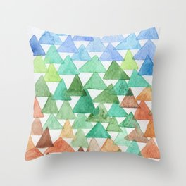 Forest of Tris Throw Pillow