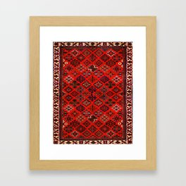 -A30- Red Epic Traditional Moroccan Carpet Design. Framed Art Print
