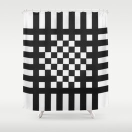 Interwoven Stripes Shower Curtain